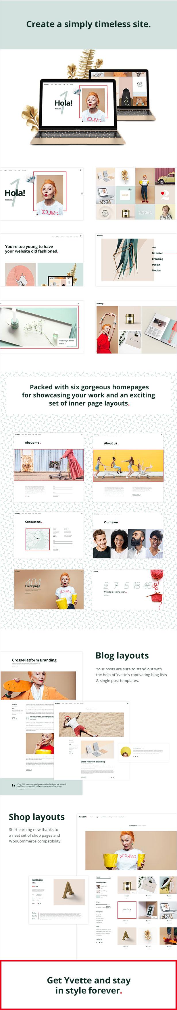 Yvette - Portfolio Theme for Creatives - 1